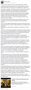 Comunicado Santi Fuentes
